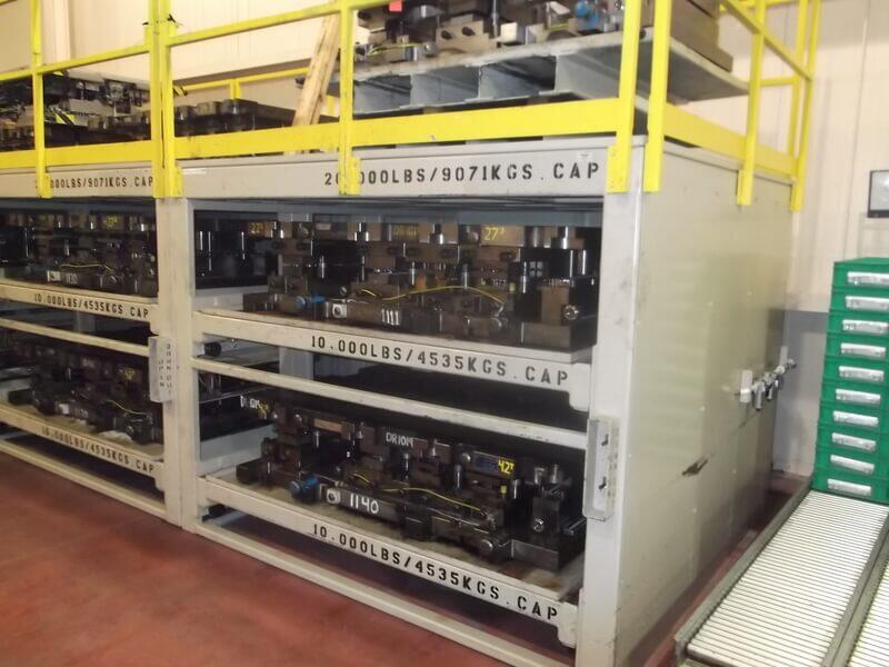 AP2 - Pneumatic Stamping Die Storage Roll Out Rack | Proper