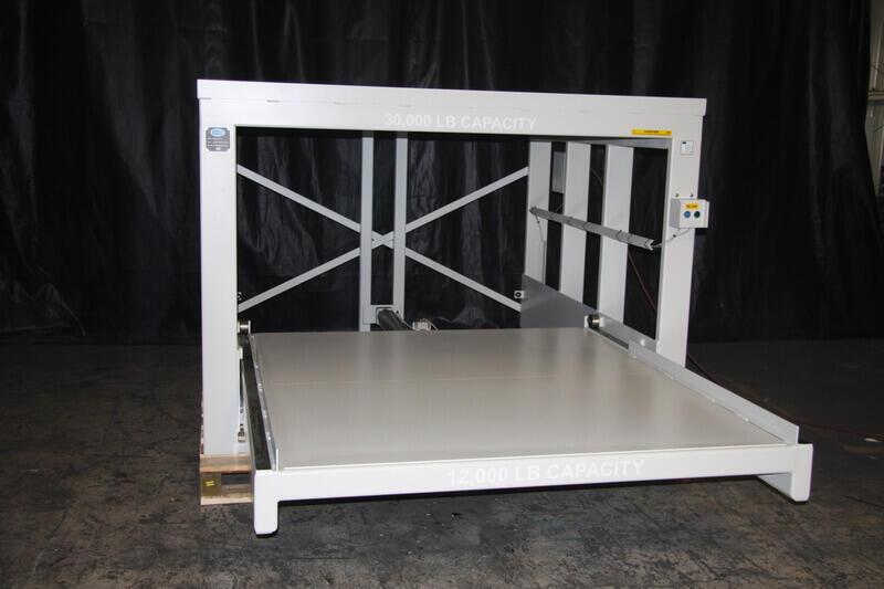 AP3 Injection Molds Storage Rack - 30000 Lb Shelf Capacity & AP3 Injection Molds Roll-Out Storage Rack 30000 Lb Shelf Capacity ...