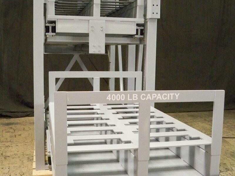 APH2 - Pneumatic Stamping Die Storage Roll Out Rack | Proper