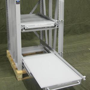 IMC1 Injection Molds Storage Rack - 8000 Lb Shelf Capacity & IMC1 Injection Molds Roll-Out Storage Rack 8000 Lb Shelf Capacity ...