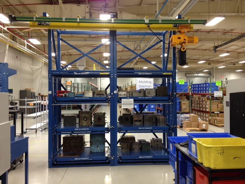 IMC4 Injection Molds Storage Rack - 2300 Lb Shelf Capacity & IMC4 Injection Molds Roll-Out Storage Rack 2300 Lb Shelf Capacity ...