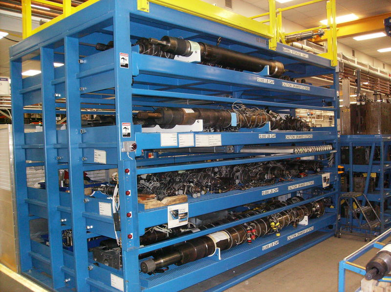 Pneumatic Cylinder Storage Roll Out Rack